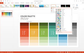 powerpoint design colors how to customize powerpoint color palette slideson