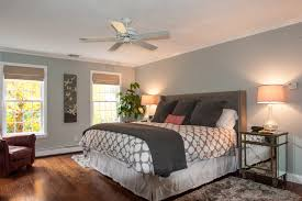 Floor To Ceiling Headboard Jonathan Adler Bedding Bedroom Transitional With Dark Wood Floor