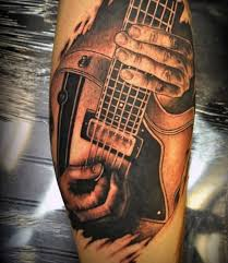 Tattoo 3d Guitar | 65 guitar tattoos for men acoustic and electric designs