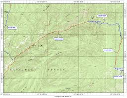 Topographic Map Of Utah by 7h Topo Map Of Aldo Leopold Wilderness Hike High Resolution