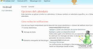 hotmail y los mensajes en el movil windows live hotmail calendar habilita avisos para teléfonos
