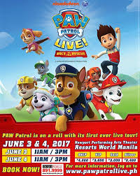 paw patrol live race rescue xperience live philippines