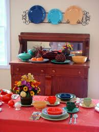 Thanksgiving Table Setting by Dining Room Crafty Woman Fiestaware Thanksgiving Table Setting