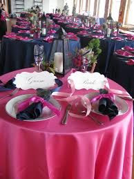 Pretty Tables by Do The Reception Tables In Orange With Royal Blue Napkins And Have