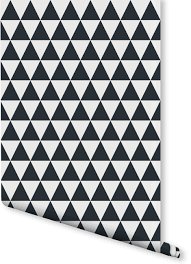 small triangle print wallpaper milexa
