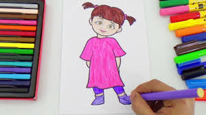 boo coloring monster characters coloring pages kids color