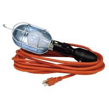 electric cord with light bulb craftsman 83022 100 watt work light with metal bulb guard and