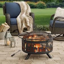 wood burning fire table deer woods wood burning fire pit walmart com