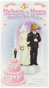 wedding cake topper accoutrements unicorn and wedding cake topper