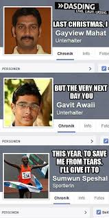 Indian Song Meme - last christmas with facebook names facebook names know your meme