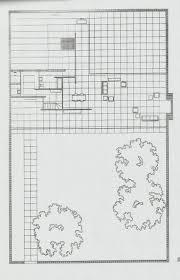 Mies Van Der Rohe Floor Plan by Projet Réalisé Par Mies Van Der Rohe Maison à Patios Plan Et