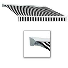 Red And White Striped Awning Black White Stripe Retractable Awnings Awnings The Home Depot