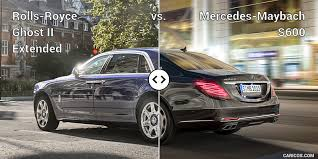 mercedes s600 maybach rolls royce ghost ii extended vs mercedes maybach s600