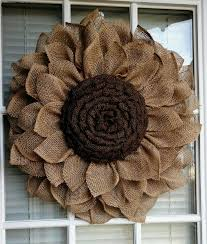 burlap sunflower wreath rustic burlap sunflower by jfprettylittlethings on etsy more