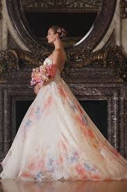 multi color wedding dress multi colored floral white bridal gowns womenitems