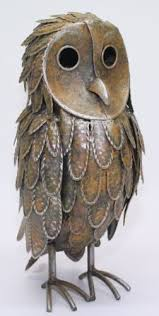 20 best owls images on garden ornaments metal
