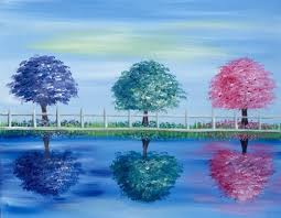 learn to paint three trees in