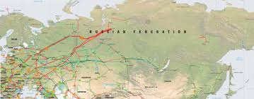 Map Routes by Russia Former Soviet Union Pipelines Map Crude Oil Petroleum