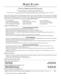 Event Manager Sample Resume by Special Events Manager Resume Conference Manager Resume