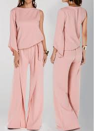 jumpsuits on sale pink neck one sleeve wide leg jumpsuit on sale only us 30 16