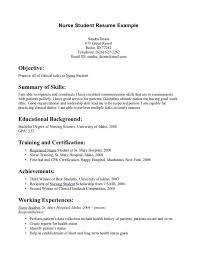 nursing student resume resume for nursing student with no experience paso evolist co