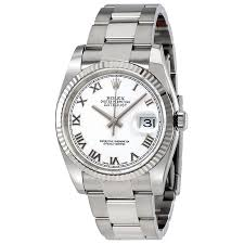 rolex steel oyster bracelet images Rolex oyster perpetual 36 mm white dial stainless steel bracelet jpg