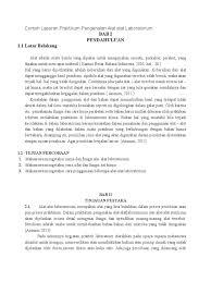 format laporan praktikum contoh laporan praktikum pengenalan alat alat laboratorium