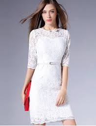 formal elegant lace graduation dress