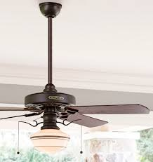 Schoolhouse Ceiling Light Heron Ceiling Fan With Opal Coffee Striped Shade 4 Blade Ceiling