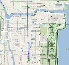 Chicago Street Map by Chicago Map Lincoln Park