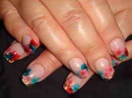 day 150 embedded floral nail art nails magazine