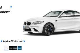 bmw car in black colour see the bmw m2 in the four different colors