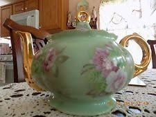 lefton china teapot roses vintage lefton china heritage brown floral roses musical teapot