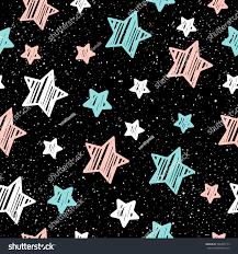 pastel star on black seamless background stock vector 568499173