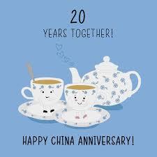 20th wedding anniversary 20th wedding anniversary card china anniversary