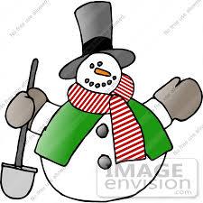 frosty snowman shovel clipart 17676 djart
