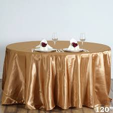 Fitted Round Tablecloth Gold 120