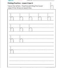 printing practice lower case letters handwriting practice