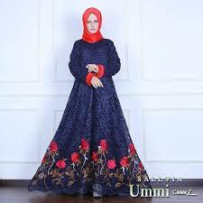 Baju Muslim Brokat koleksi gambar baju gamis muslim brokat kombinasi modern