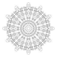vector coloring book circular pattern mandala spring easter
