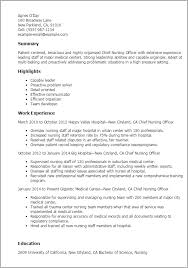 Hospital Resume Sample by Professional Chief Nursing Officer Templates To Showcase Your