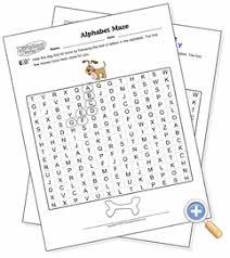 alphabet maze worksheetworks com