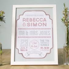 personalised wedding gifts 29 best wedding prints images on personalized wedding