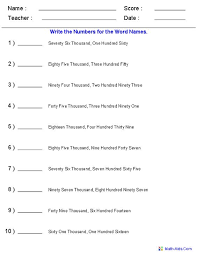4th grade decimal place value worksheets 4th grade printable