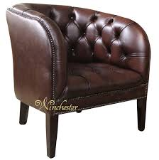 Traditional Leather Armchairs Uk Chesterfield Jasper Low Back Tub Chair Uk Manufactured Antique