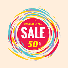 circle layout vector sale discount 50 off creative vector banner special offer abstract