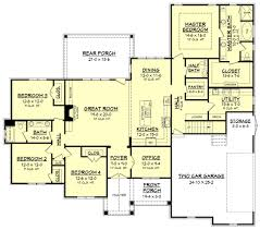 Plans Com Craftsman Style House Plan 4 Beds 2 50 Baths 2641 Sq Ft Plan