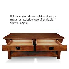 Coffee And End Table Sets Leick Furniture Mission 2 Drawer Coffee Table Medium