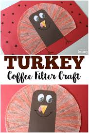 coffee filter crafts for kids coffee filter turkey craft look