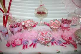 Pink And White Candy Buffet by Pink Candy Buffet Time For The Holidays